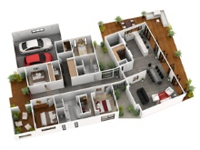 3D Plans & Elevations Sections